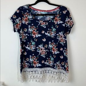 Maurices floral blue top